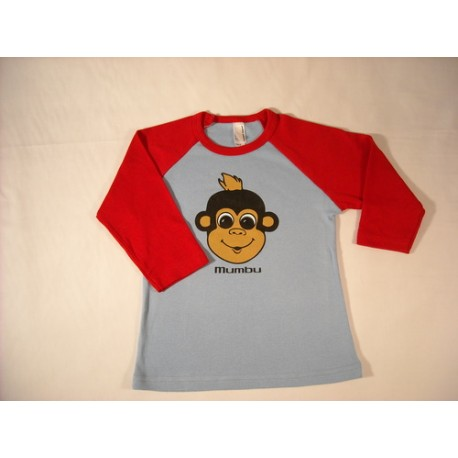 Kids Mumbu T-Shirt - Red & Grey