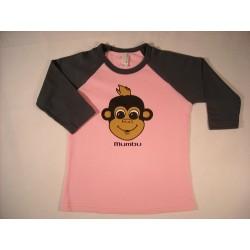 Kids Mumbu T-Shirt - Pink/Charcoal